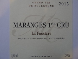 Maranges 1er Cru La Fussiere Front