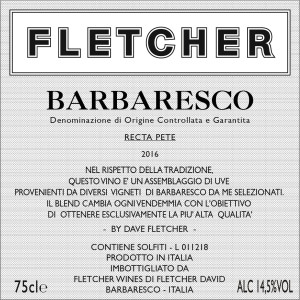 Barbaresco Front Label 2016