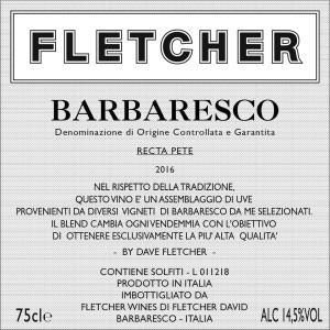 Barbaresco Front Label 2016